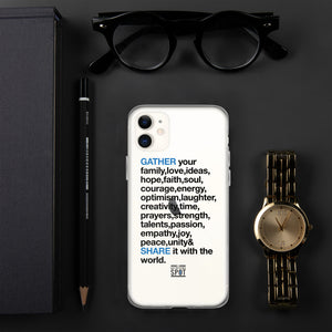 TGS - GATHER the WORDS iPhone Case