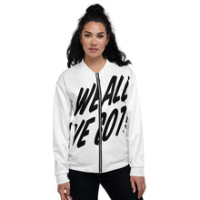 Load image into Gallery viewer, TGS - WE ALL WE GOT Unisex Bomber Jacket in White
