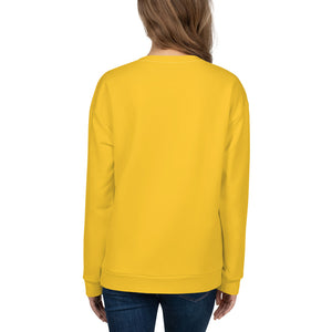 Dolvett Says: LEADWITHLOVE - Jumbo Print Unisex Sweatshirt in Yellow