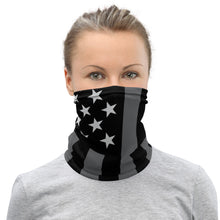 Load image into Gallery viewer, BlackGrey American Flag - Facemask / Neck Gaiter