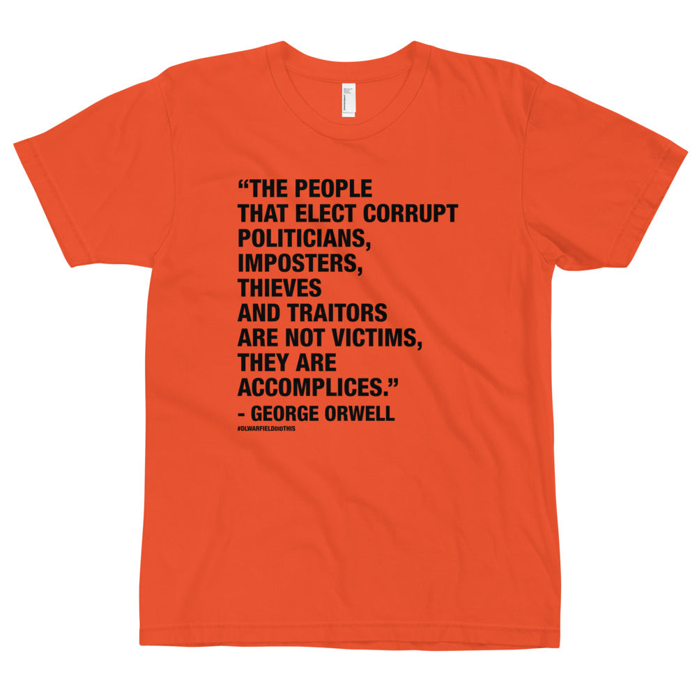 GEORGE SAID IT BEST - T-Shirt in Orange