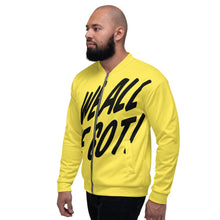 Load image into Gallery viewer, TGS - WE ALL WE GOT Unisex Bomber Jacket in Yellow