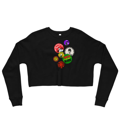 Buttons Forever - Crop Sweatshirt
