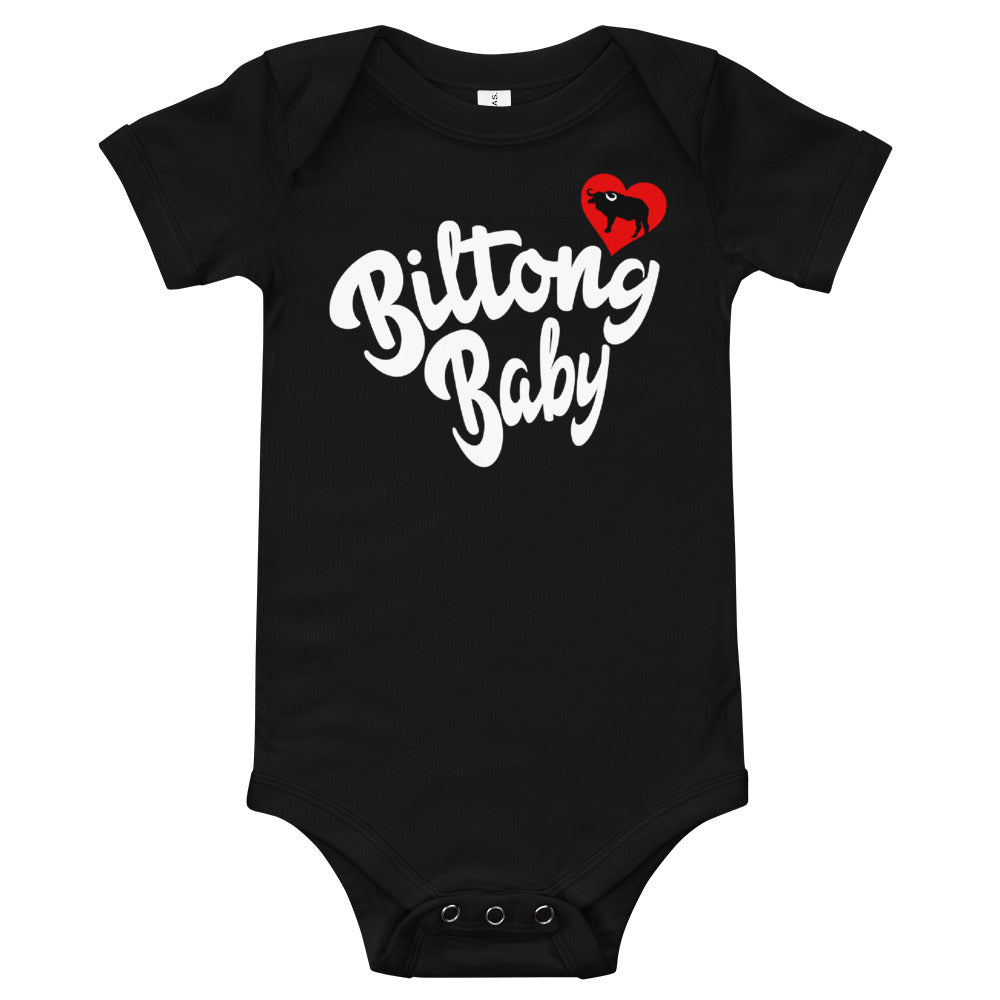 Biltong Baby - Onesie T-Shirt in Black