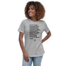 Load image into Gallery viewer, TGS - GATHER the WORDS Women's Relaxed T-Shirt