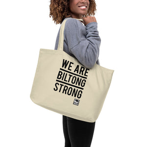 WE ARE BILTONG STRONG - Large organic tote bag