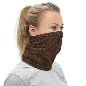 DOPE Brown Two-tone Facemack / Neck Gaiter