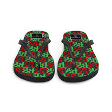 Load image into Gallery viewer, DOPE Flip-Flops - REDBLACK&GREEN
