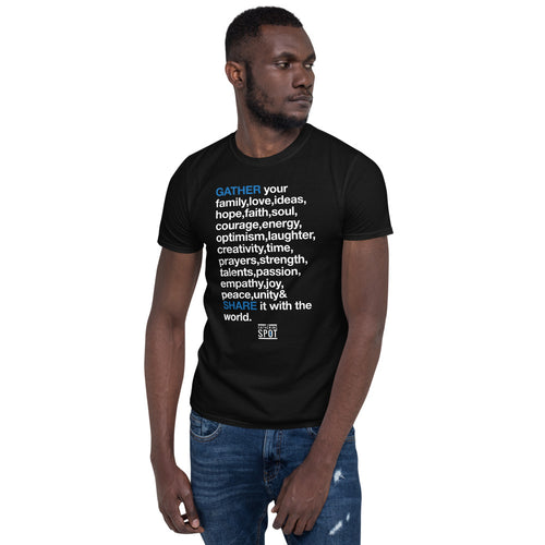 TGS - GATHER the WORDS Unisex Tee - Black
