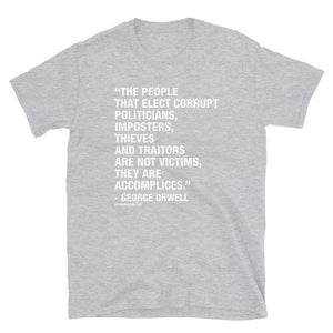 George Said It Best - Short-Sleeve Unisex T-Shirt in Black