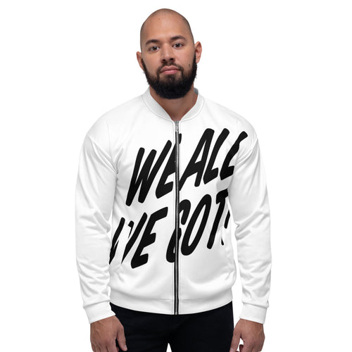 TGS - WE ALL WE GOT Unisex Bomber Jacket in White