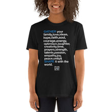 Load image into Gallery viewer, TGS - GATHER the WORDS Unisex Tee - Black
