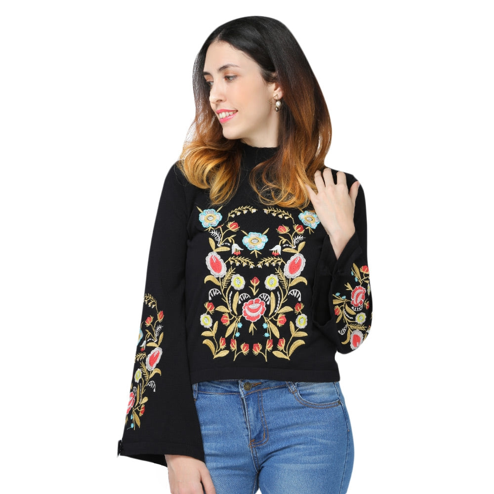 Embroidery Women Sweater