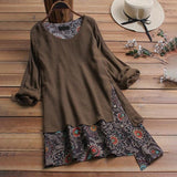 Plus Size Women's Tunic Vintage Blouse