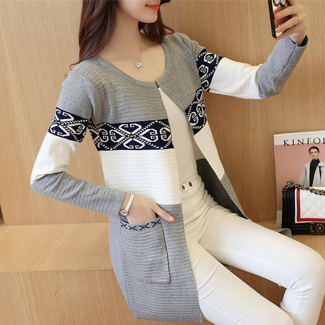 Long Sweater Cashmere Cardigan