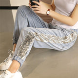 Harem Glitter Denim Pants
