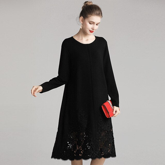 Wool Knitted Dress