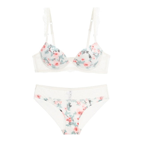Floral Women Lingerie Set