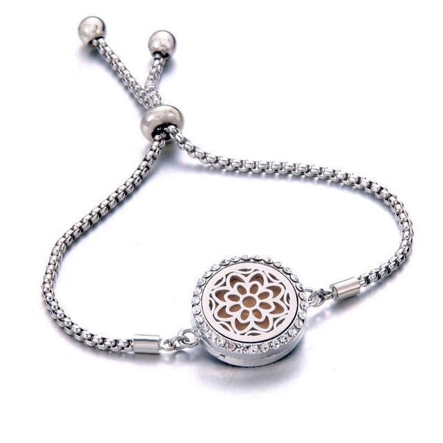 Essential Oil Diffuser Aromatherapy Locket Bracelet