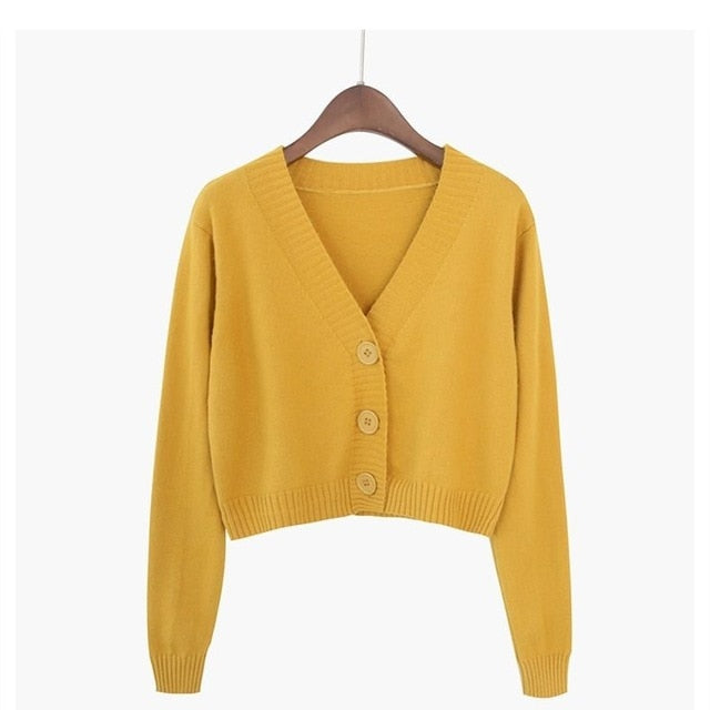 Korean Short Woollen Sweater cardigan