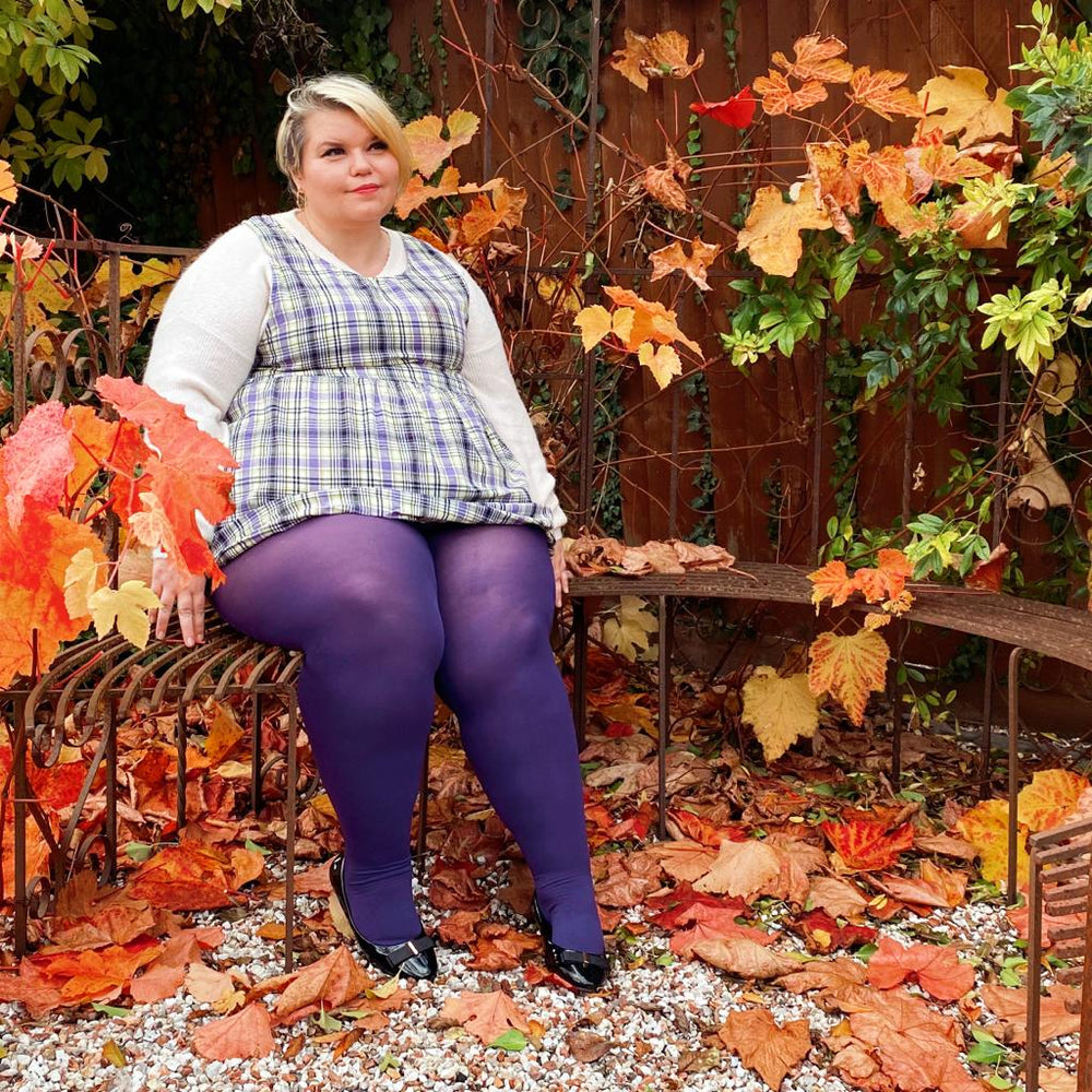 Tights - 120 Denier - Suffragette Purple