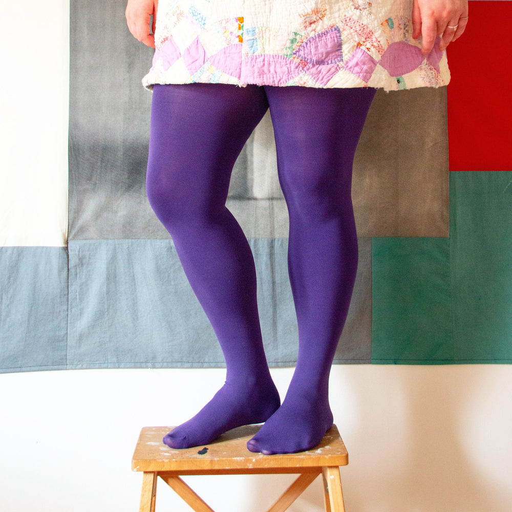 Tights - 80 Denier - Suffragette Purple