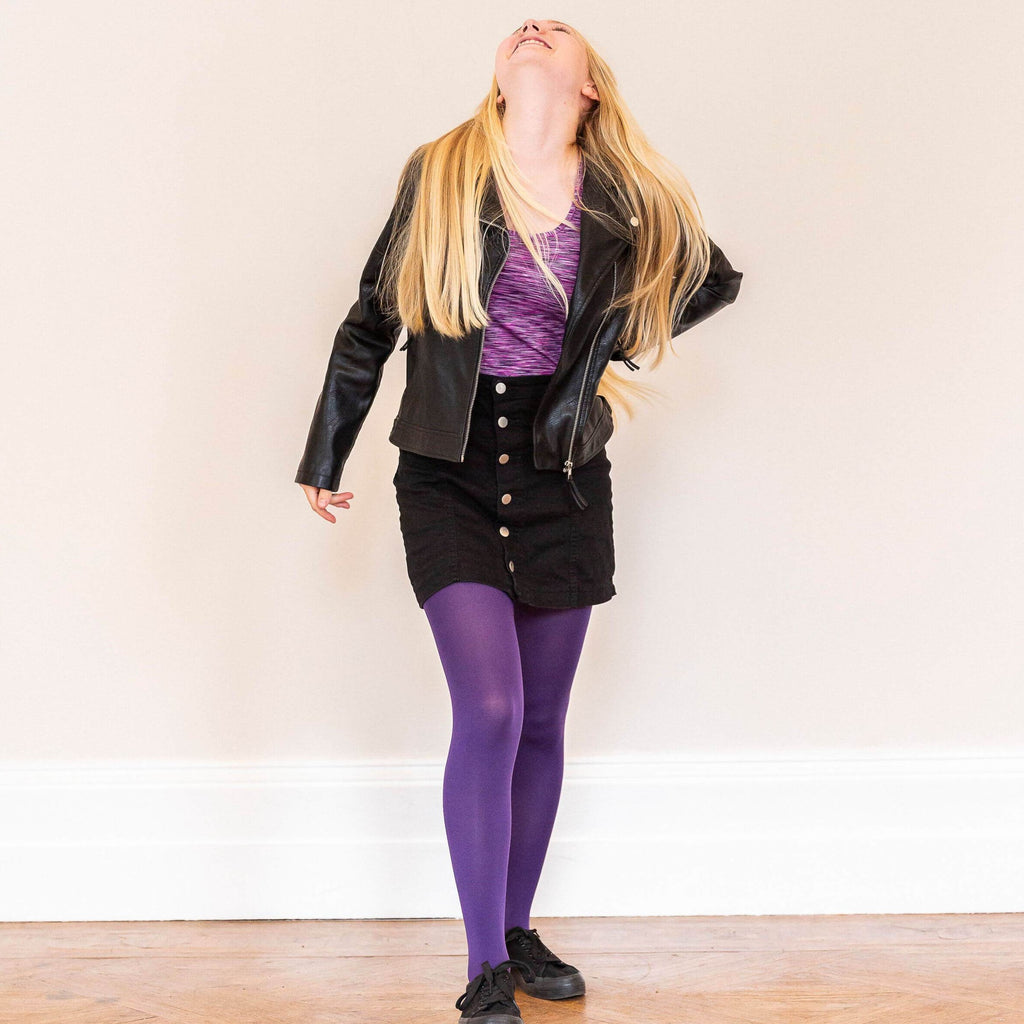 Tights - Kinder Strumpfhosen - Suffragette Purple
