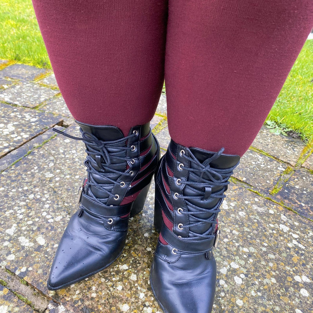 Tights - Merino Wollstrumpfhose - Red Velvet Cake
