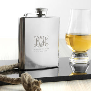 Monogrammed Wedding Party Hip Flask | Well Groomed
