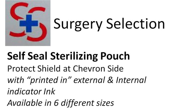 STERILIZING POUCHES. 200/box. 57 x 133 mm