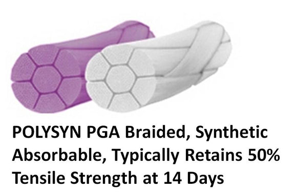 POLYSYN/PGA. SIZE 6/0, NEEDLE: 3/8 CIRCLE, 13MM PRECISION REVERSE CUTTING, SUTURE: 45CM