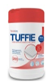 Tuffie Hard surface Disinfecrant wipes CODE: TW-81106-100, Cloth Size 18.5 x 13cm