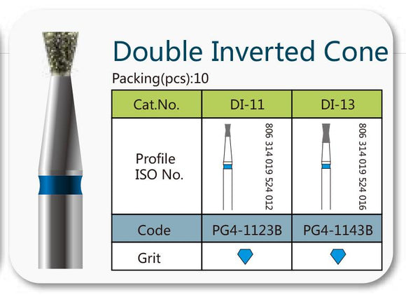 Double Inverted Cone. 2 Types.10 Pieces/Pack