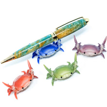 Load image into Gallery viewer, Crab Pen Holder for Desk - Fountain Pen, Pencil, or Ballpoint Pen