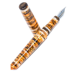 Jinhao #156 Deluxe Black Fine Nib Fountain Pen - Chrome Trim