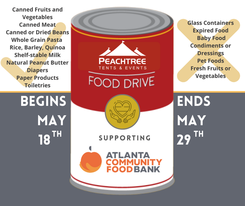 Peachtree Tents and Events Food Drive