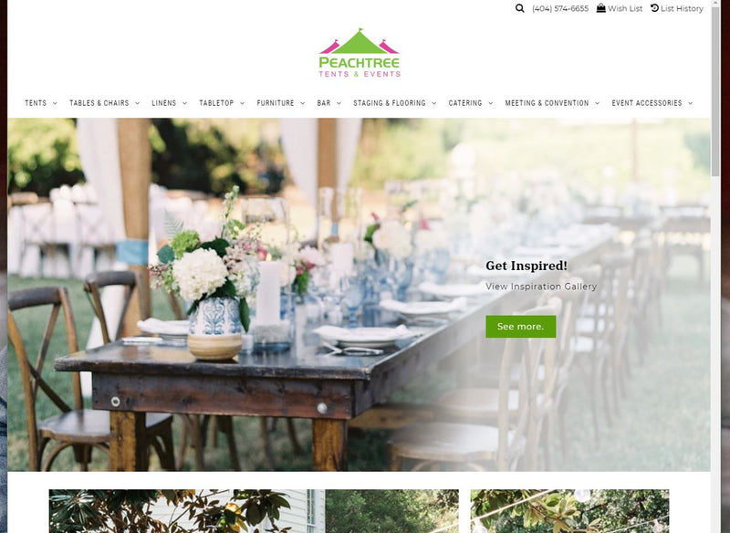 New and Improved: Peachtree Tents & Events Website