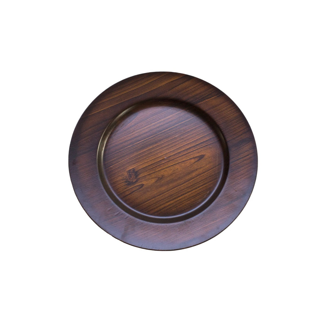 Dark Wood Acrylic Charger