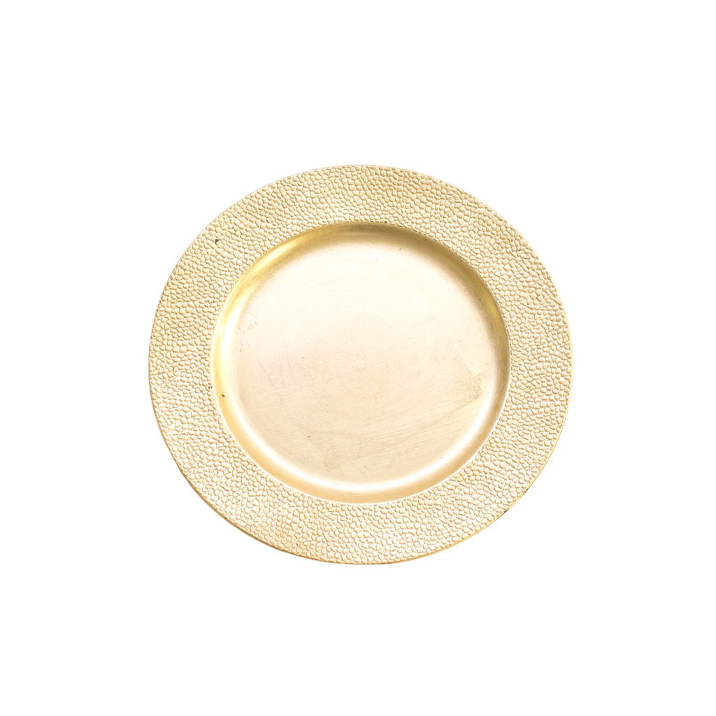 Gold Pebble Acrylic Charger