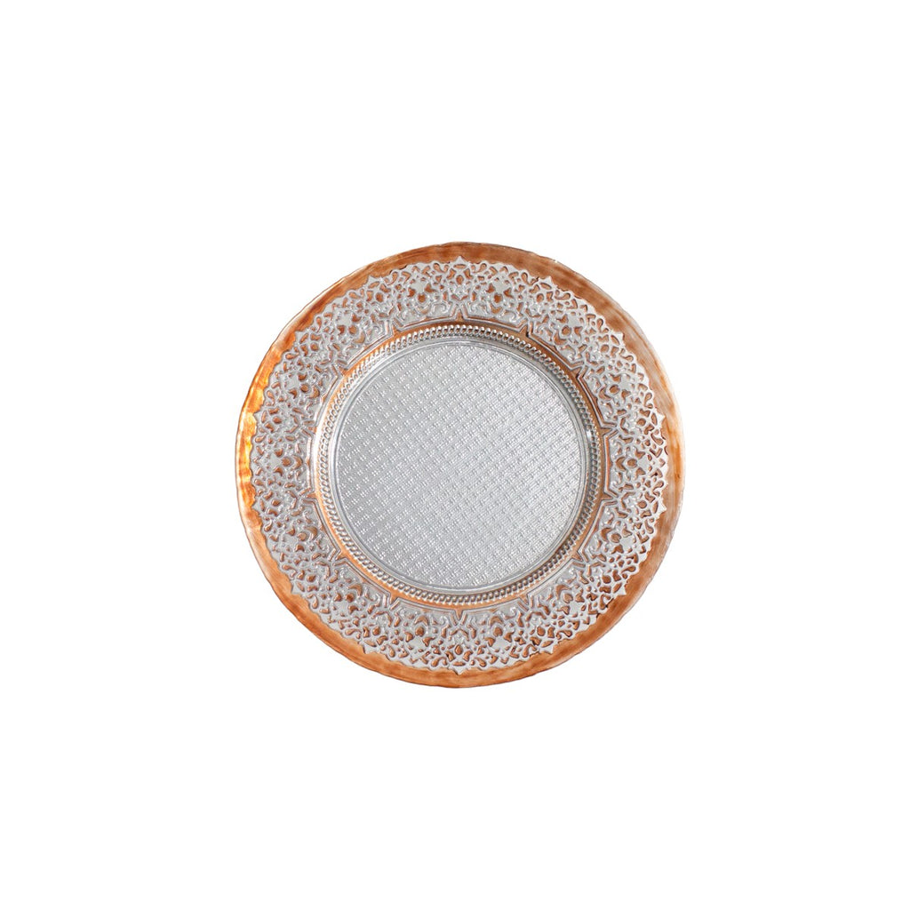 Bronze Royal Glass Charger