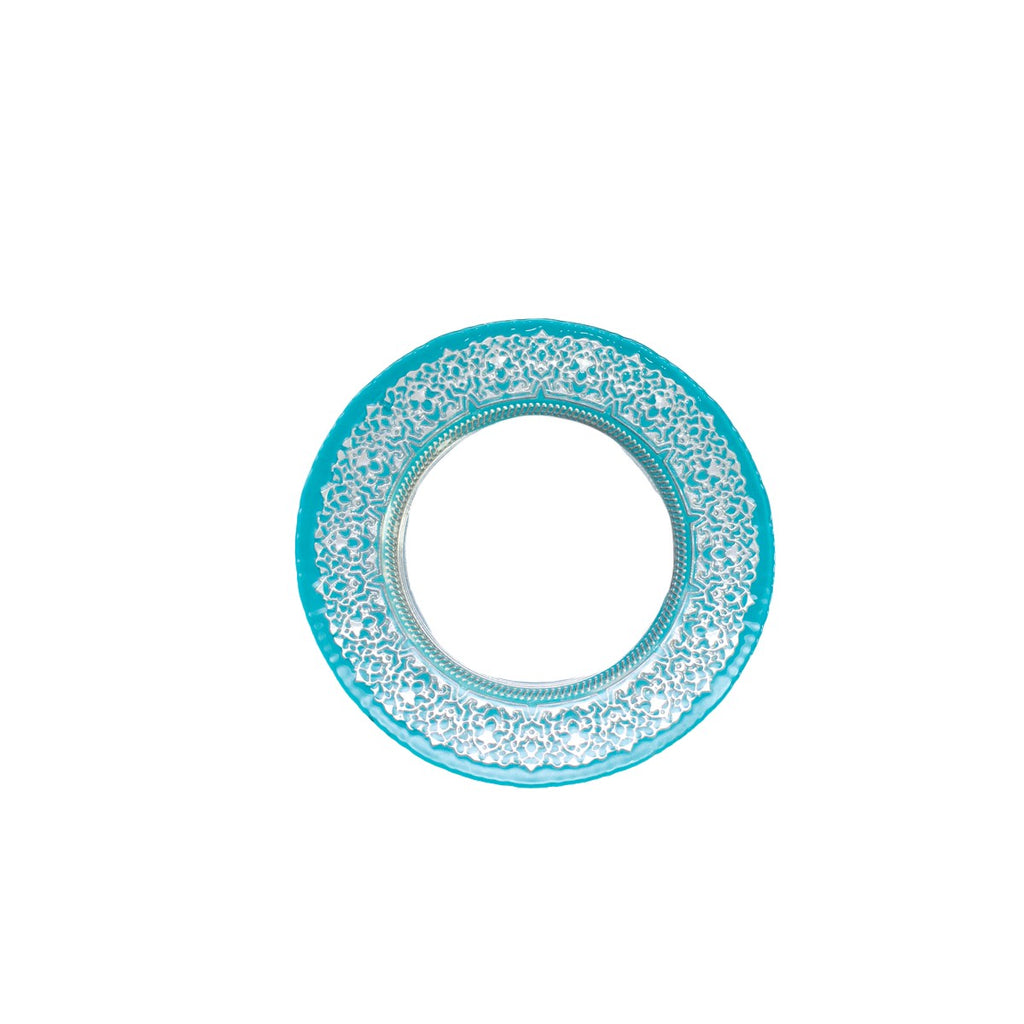 Turquoise Royal Glass Charger