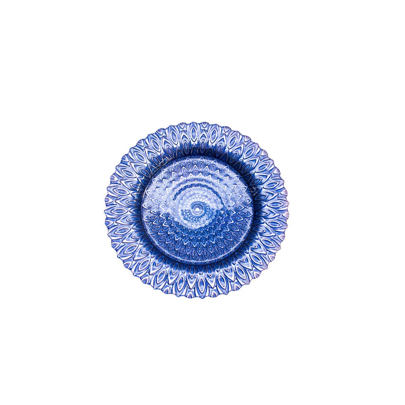 Blue Teardrop Glass Charger