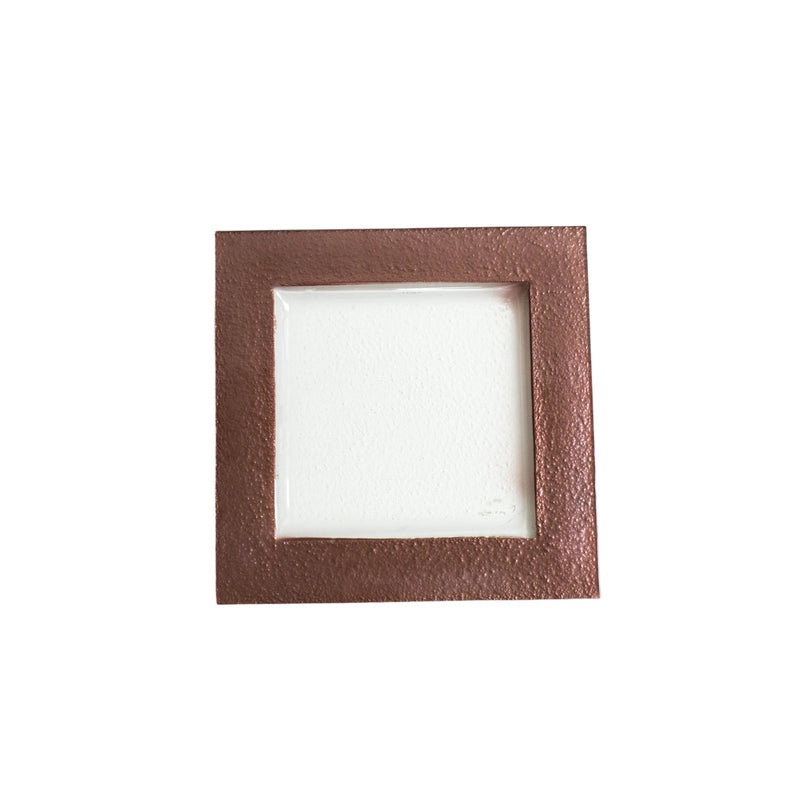 Square Chocolate Rim Glass Charger