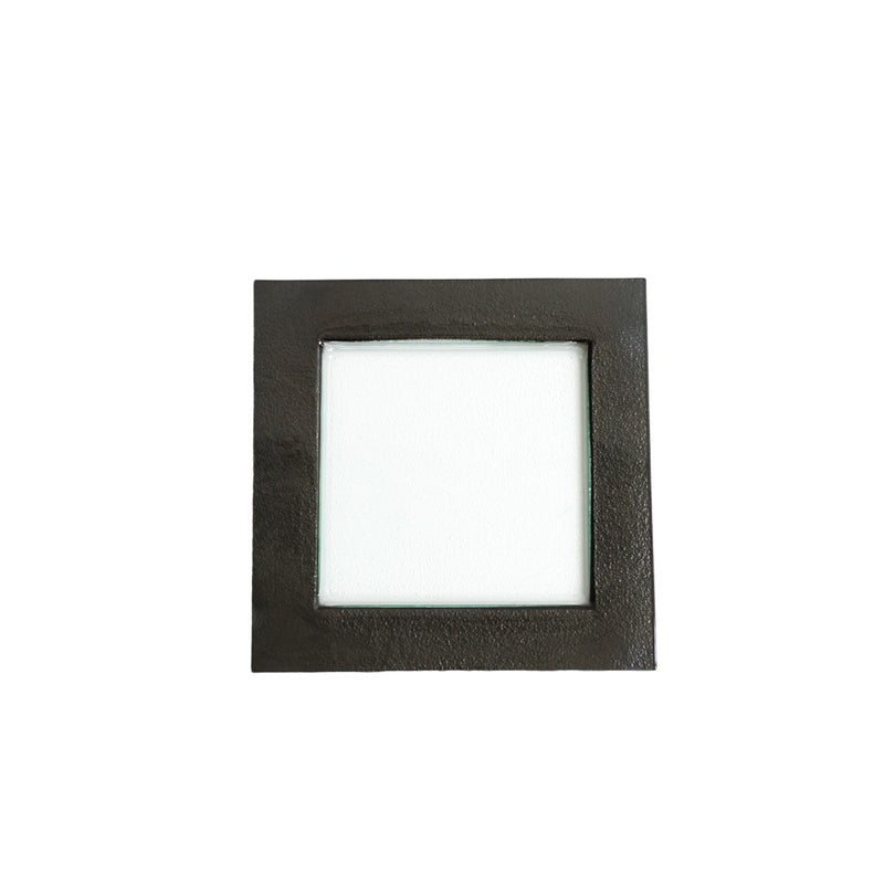 Square Black Rim Glass Charger