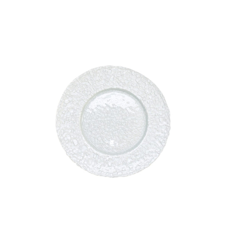 Pearl White Mosaic Glass Charger