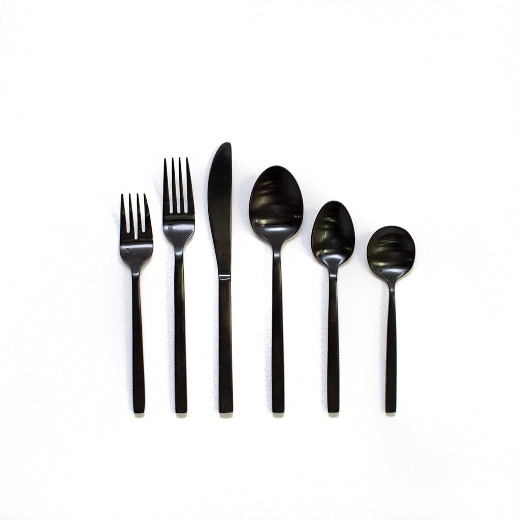 Arezzo Black Flatware Collection