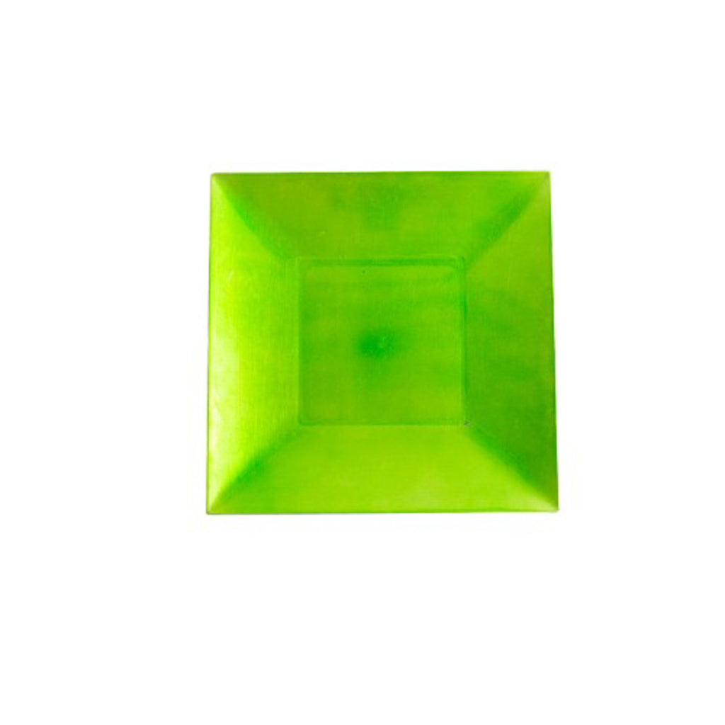 Square Apple Green Acrylic Charger