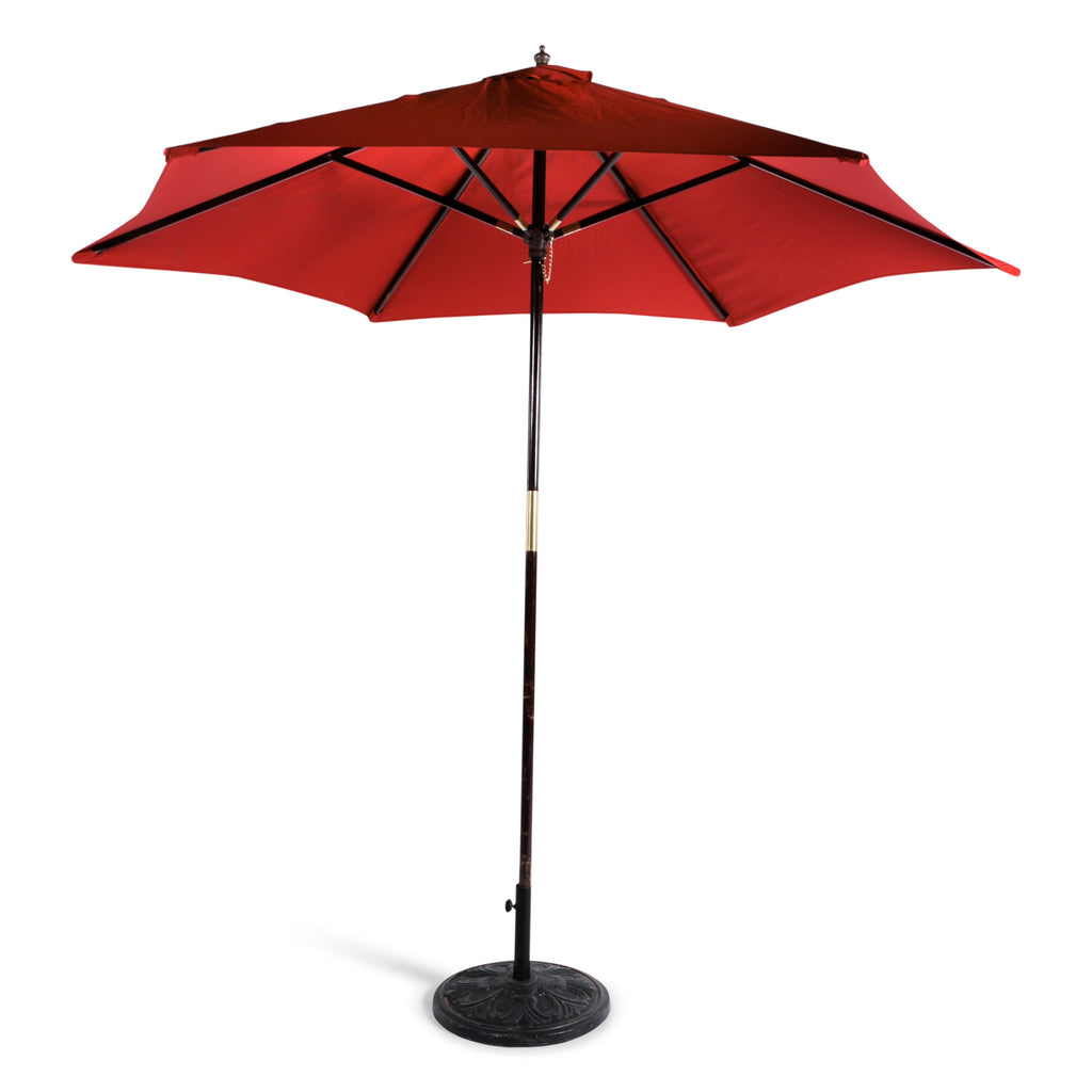 Red Market Umbrella w/ Base