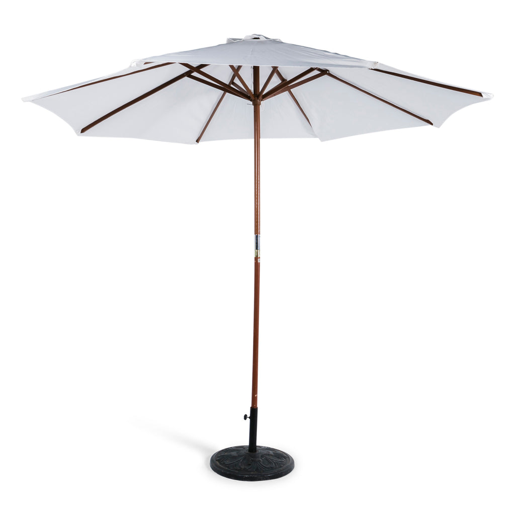 White Market Umbrella w/ Base