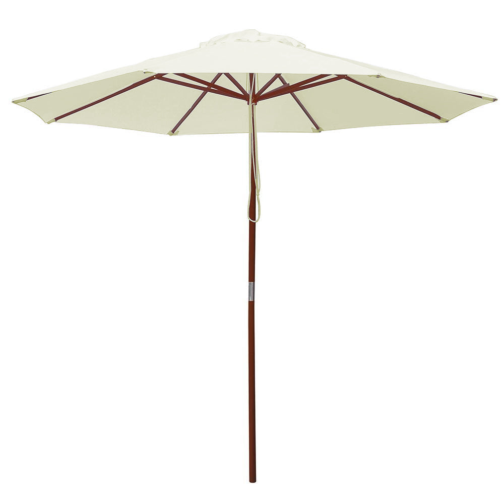 Ivory Market Umbrella w/ Base